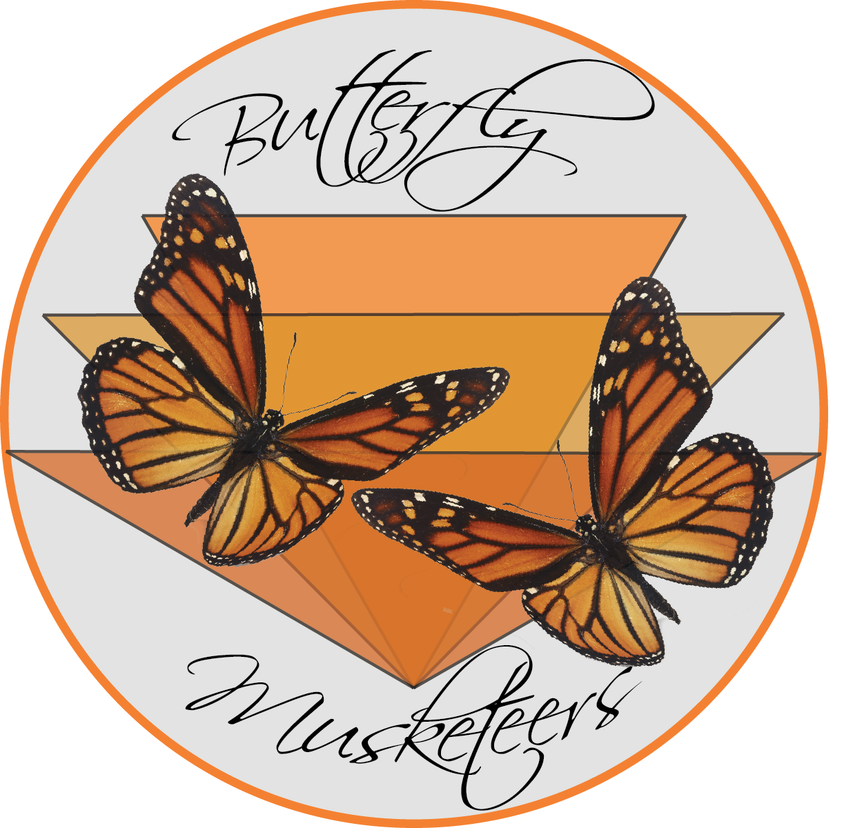 butterfly musketeers monarch logo